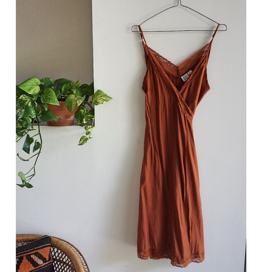 Somedays Lovin Rust Midi Dress XS