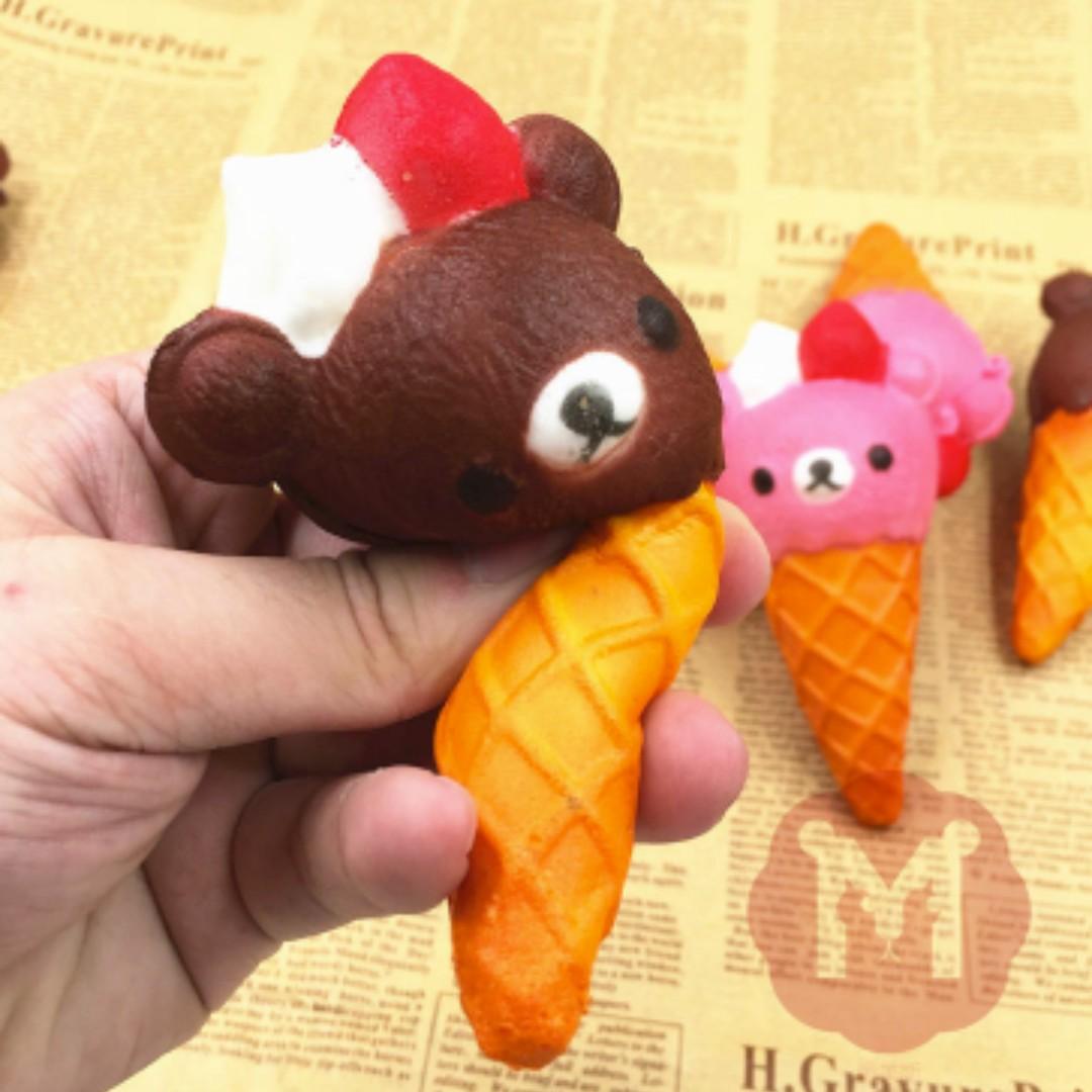 Simply Chic Squishy Gantungan Kunci Roti ( Squishy Simulation Hamburger Slow Rising Squishy Fun Toys Key. Source · Squishy Ice Cream Bear Mainan Tangan ...