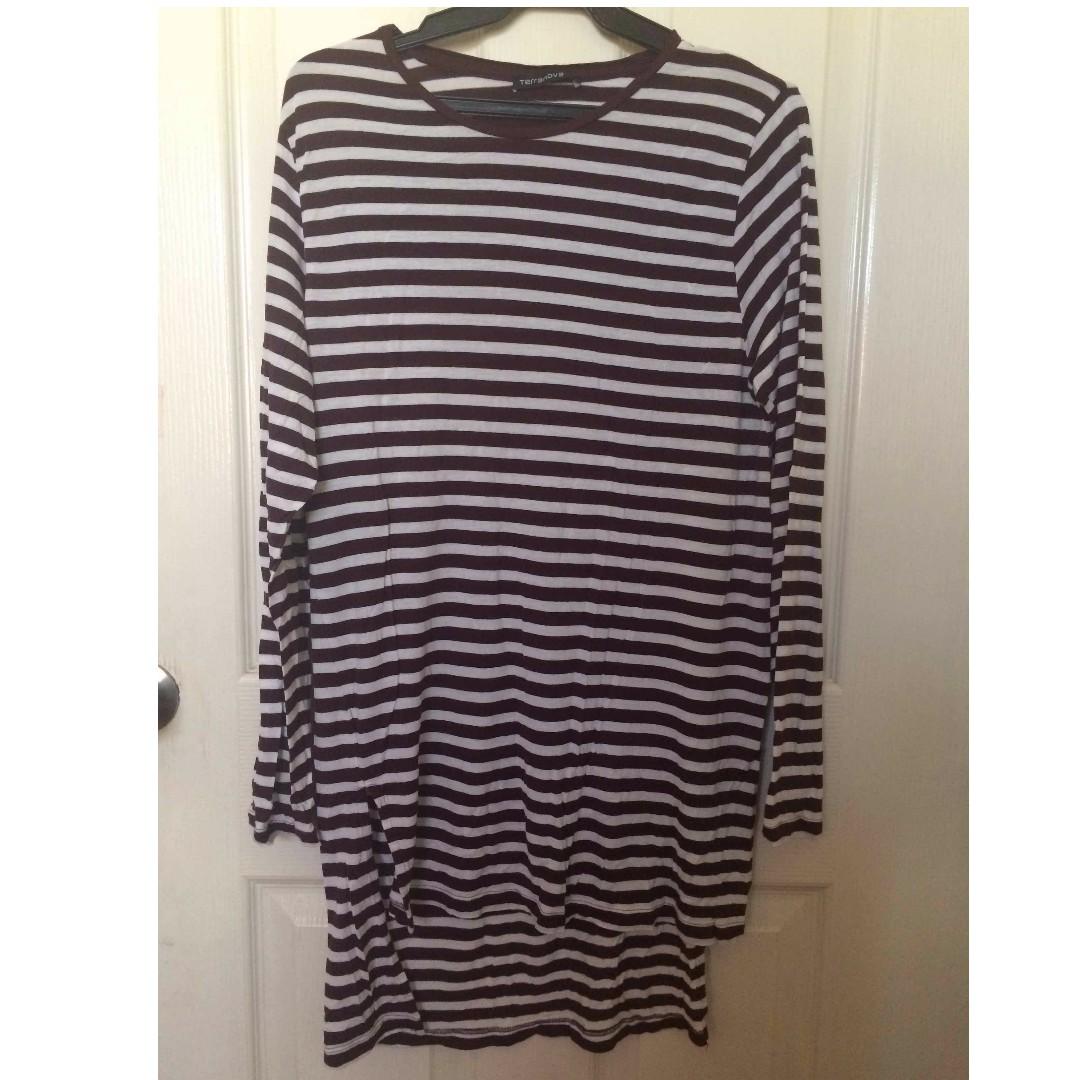 Stripe Longsleeve Stretchable Dress  #below200