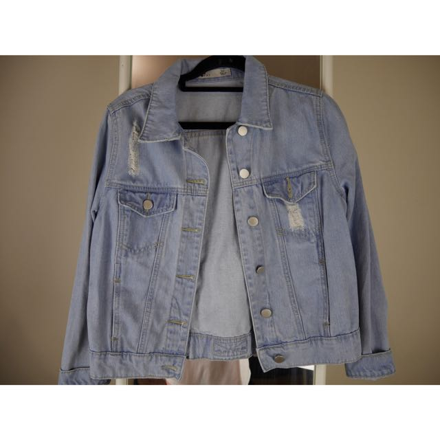 TEMT LIGHT BLUE DENIM JACKET