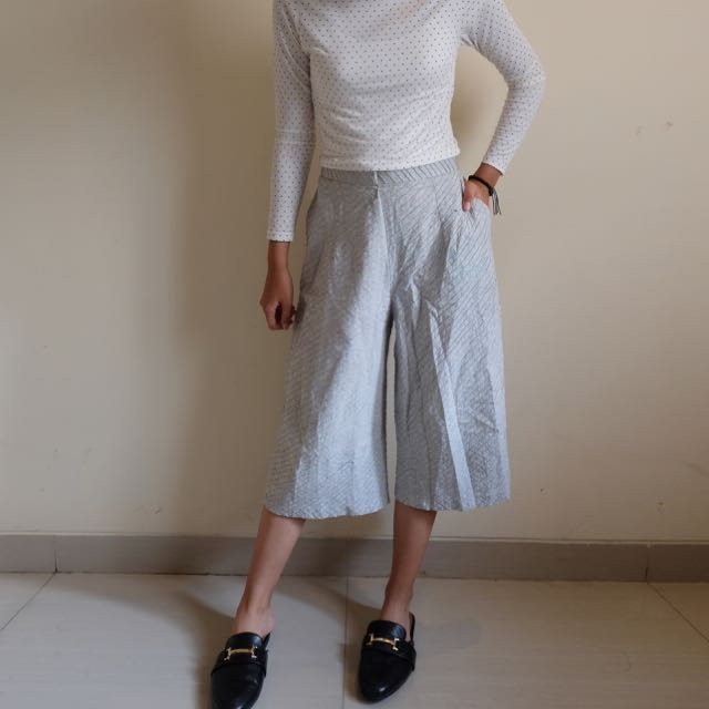Textured Mint Culotte