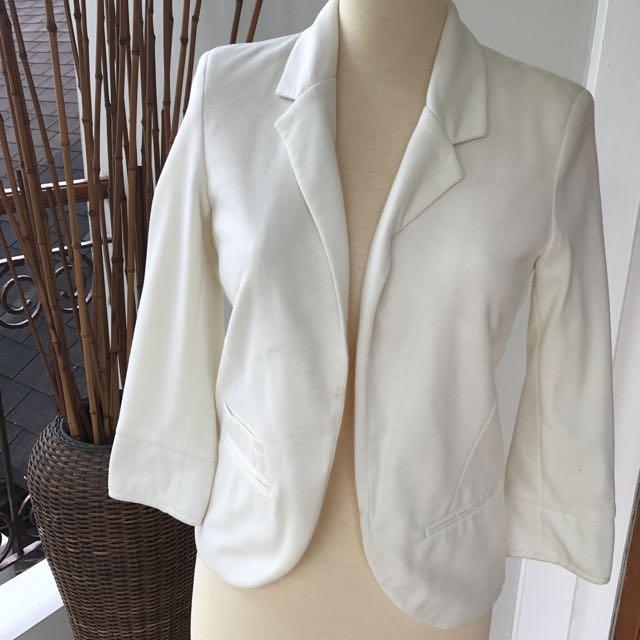 Topshop Broken White Blazer Jacket