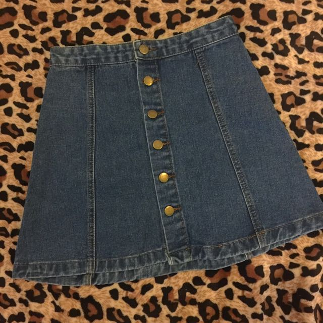 Topshop Inspired Denim Skirt