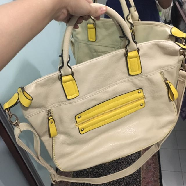 Tote Bag Cream Kuning