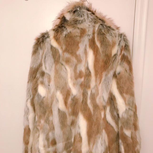 Unworn Faux Fur Coat