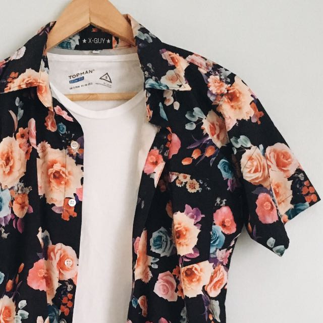 XGUYS Floral Polo
