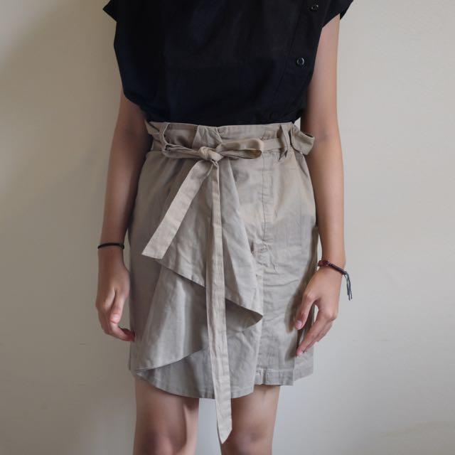 XSML Nude Skirt