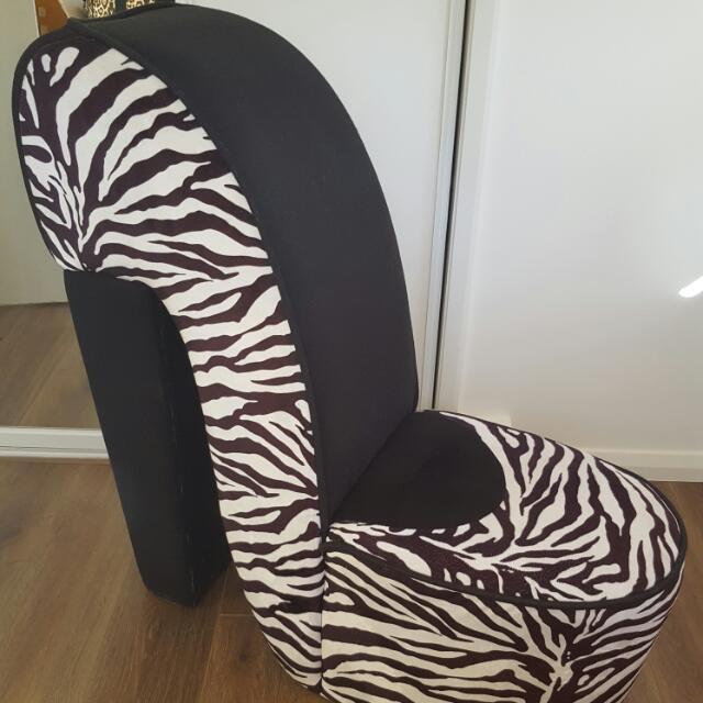 Zebra Shoe Chair