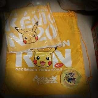 Pokemon Run 2016 毛巾,索繩袋及扇子