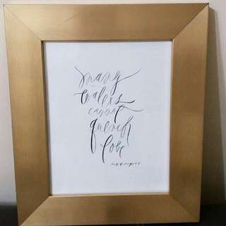 Framed Calligraphy For Home Or Office Or Wedding Decor