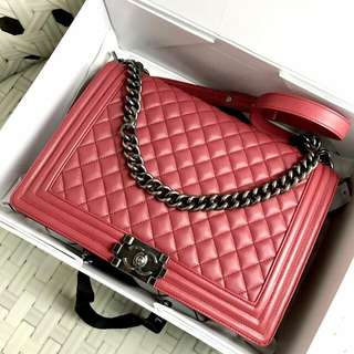 Chanel Boy Calfskin Leather Large 30cm