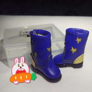 Azone Pullip Blythe 1/6 娃鞋 星星圖案靴