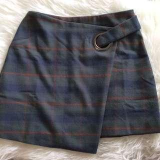 Free People Plaid Skirt