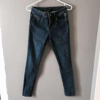 Forever 21 Dark Wash Skinny Jeans