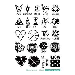 【CHANXOD】現貨 EXO Wolf 紋身貼紙WST-EXO1