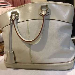 AUTHENTIC LV GENUINE WHITE LEATHER