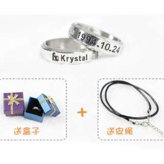 【CHANXOD】現貨_Fx鄭秀晶 水晶Krystal 項鍊戒指TGJ-ZXJ1