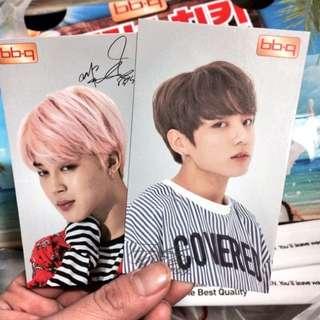 BTS BBQ Limited Photocards [Jimin, Jungkook, Suga]