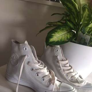 Converse Shoes ( White, Rubber ) Liza Has These
