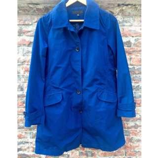日本帶回 UNIQLO JKT 日版限定 中長板尼龍防潑水防風衣羽絨外套長大衣 深藍色 高價款