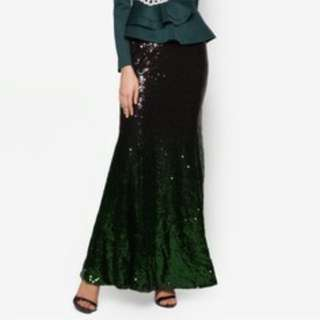Zalia Sequin Dark Green/Blue