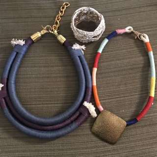 3-pc Set Of Necklaces And Bangles