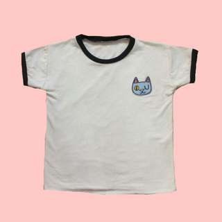 CAT PATCHED TEE