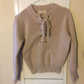 Baby Pink Ribbon Sweater