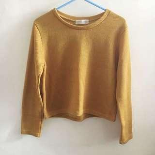 春季韓國黃色上衣