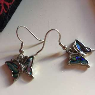 Butterfly Paua Earrings