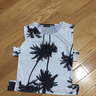 Palm Tree Tank Cut Out On The Side