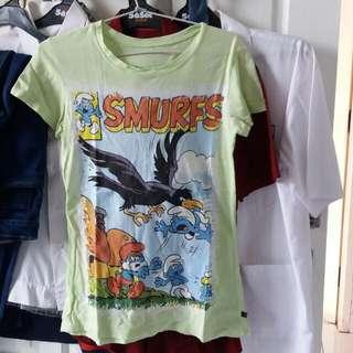 Smurfs Tee Shirt (Kaos)