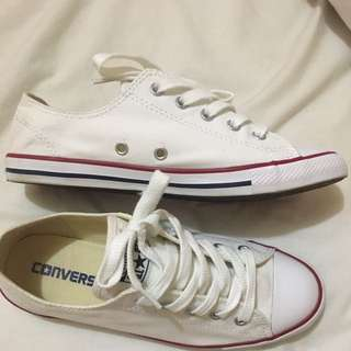 Converse Dainty All Star White Chuck Taylor Size 6 Women Sneaker Shoes