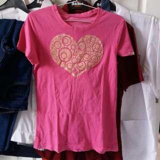 Flock Heart Tee Shirt (Kaos)