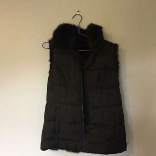 Victoria Secret Faux Fur Lined Puffer Vest