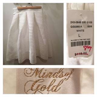 BNWT: Size L - Minds of Gold (Mendocino) skirt
