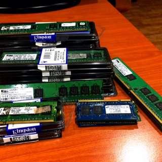 Lelong Ram DDR2, DDR3 Untuk Pc & Laptop