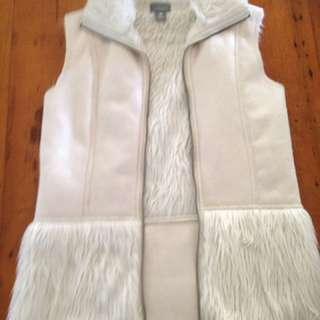 Faux Fur White Vest