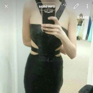 Black Long Sequin Dress
