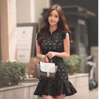 Crochet Lace Fishtail Dress Korean PO