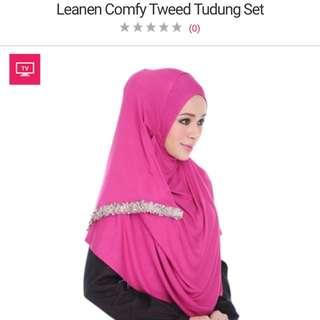 Leanen comfy tweed tudung