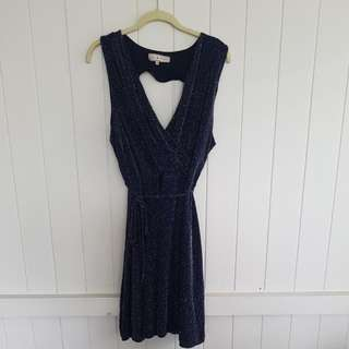 Plus Size Navy Sparkle Slinky Dress Size 22 BNWOT