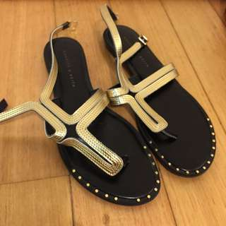Charles And Keith Flat Sandals