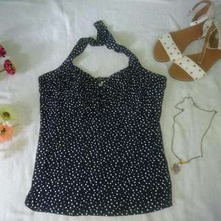 Polka Backless Top