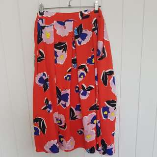 City Chic Bright Floral Circle Skirt Size L