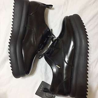 Leather Platform Shoes