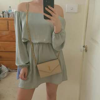 Glassons Off The Shoulder Silk Dress Size 8
