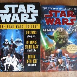 Star Wars Books Episode 2, 4, 5, 6