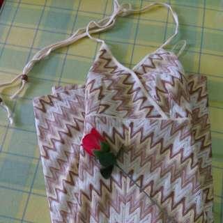 Summer V Neck A-cut Mini Dress
