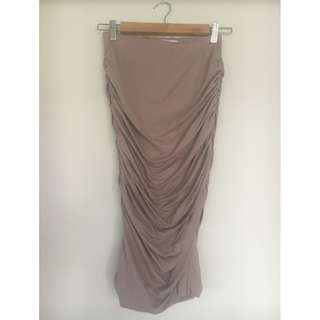 SUPRE Luxe Basics Gather Midi Skirt